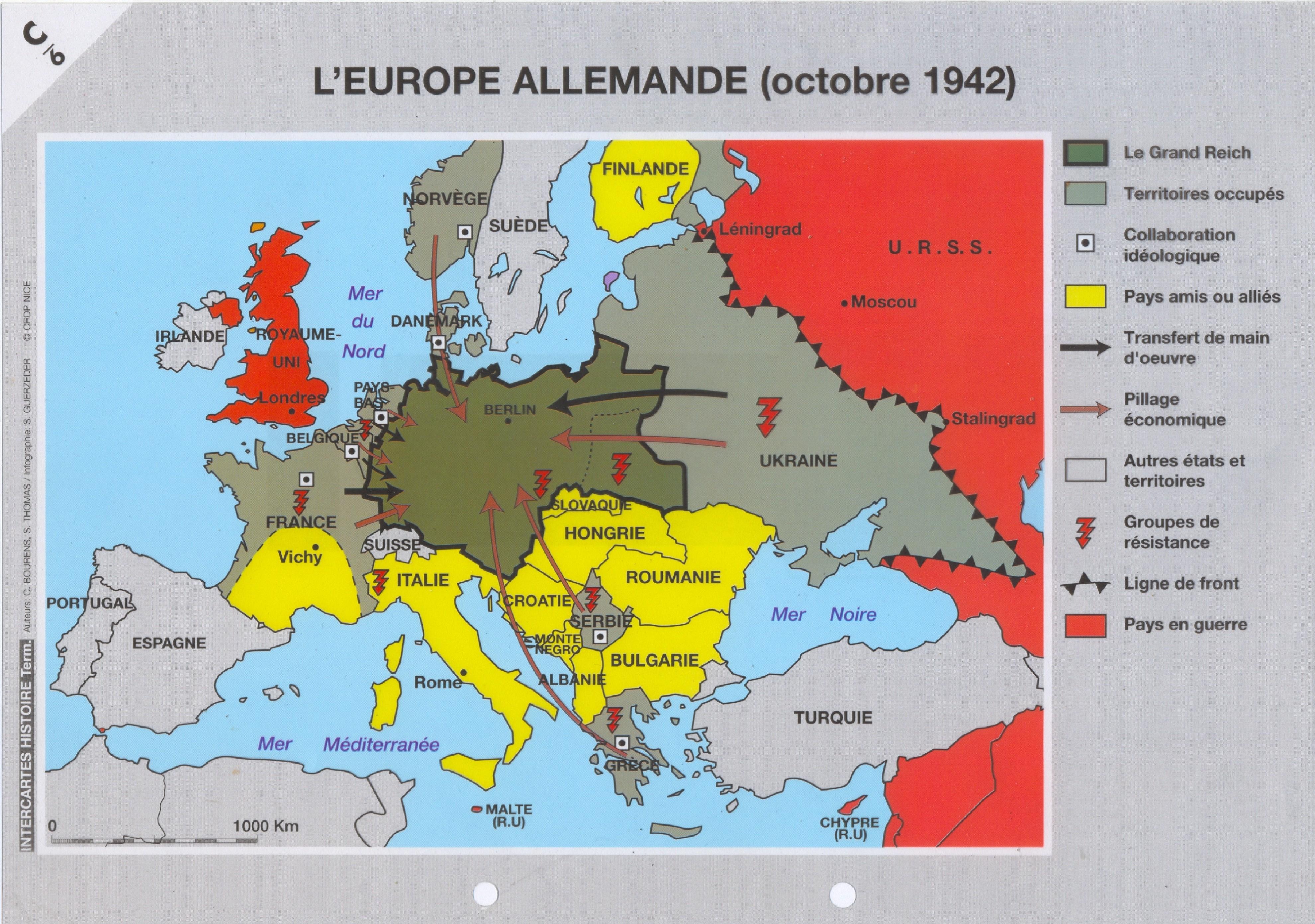 carte europe nazie